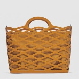 Zara die cut tote bag